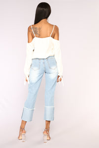 Kaydence Cold Shoulder Top -  Ivory