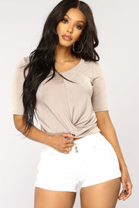 You Rock My World Surplice Top - Coco