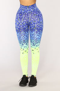 The Wild Side Active Leggings - Blue