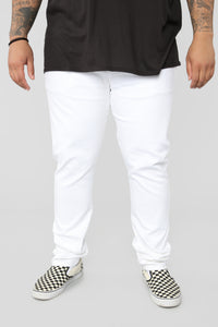Terrence Skinny Jean - White Angle 8