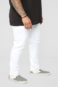 Terrence Skinny Jean - White Angle 11