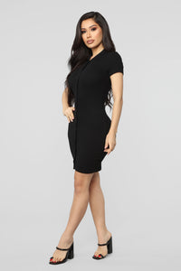 School Spirit Polo Mini Dress - Black Angle 3