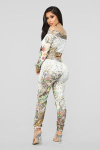 Beautiful Animal Pant Set - White/Combo