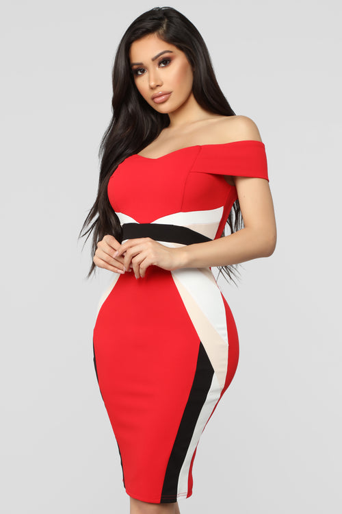 f783d85f17b Every Which Way Midi Dress - Red Combo