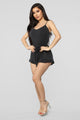 Willow Romper - Black