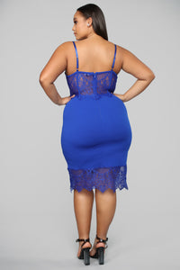 What You're Missing Midi Dress - Royal Angle 9