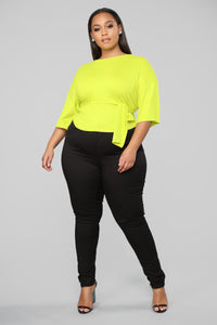 Highlight Of My Night Top - Neon Yellow