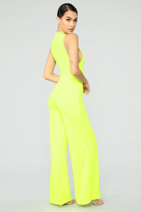 Miami's Finest Jumpsuit- Neon Green Angle 4