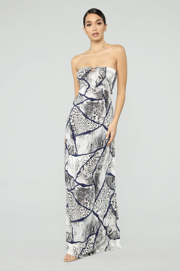 ef8fef0e23d0 Bring Out The Animal In Me Maxi Dress - Navy Multi