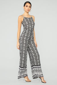 Kensley Jumpsuit - Black/White