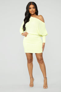 The Sweetner You Are Mini Dress - Yellow