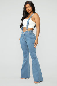 Saved By The Bell Bottom Jeans - Medium Blue Wash