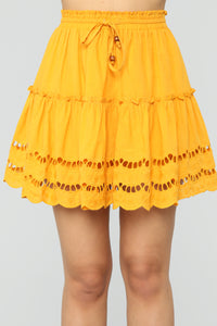 Ready For Some Fun Skort Set - Mustard Angle 6