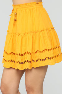 Ready For Some Fun Skort Set - Mustard Angle 7