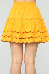 Ready For Some Fun Skort Set - Mustard Angle 8