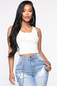 Not So Basic Tank Top - White Angle 1