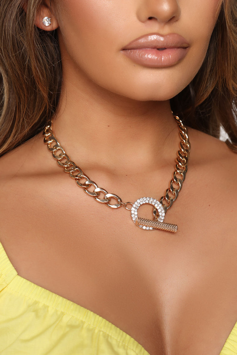 At The Club Chain Necklace - Gold