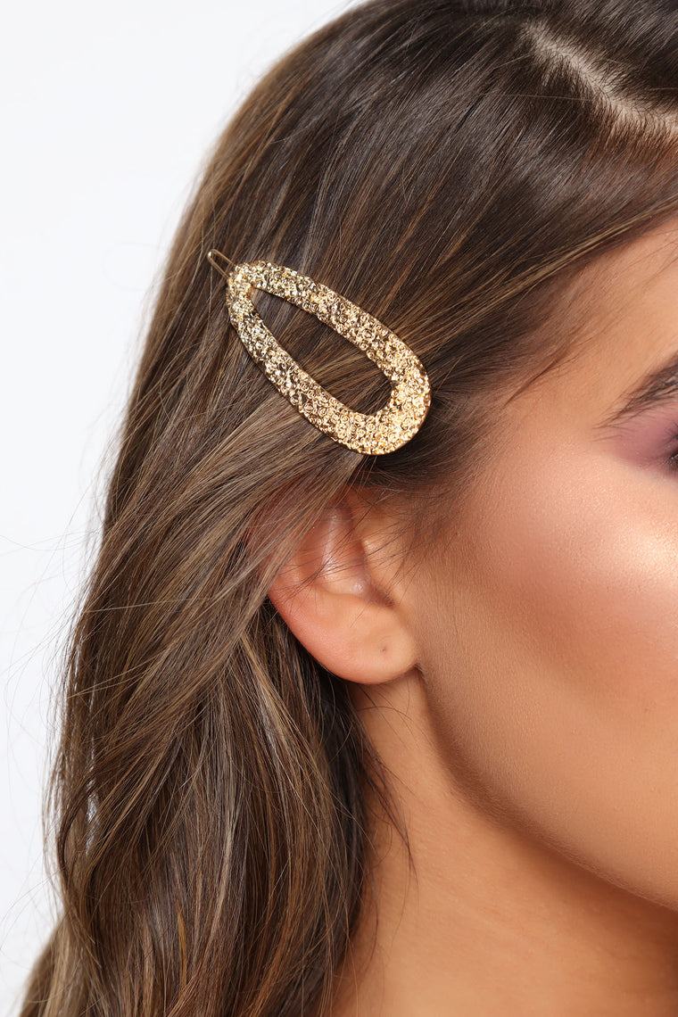 Don't Let Me Down Hair Clip - Gold