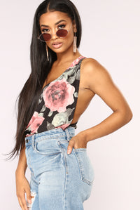 Always And Forever Floral Top - Black