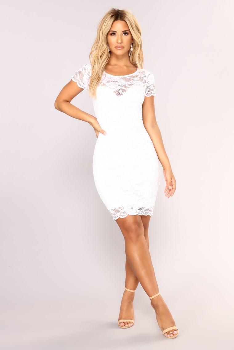 Cassi Lace Dress - White