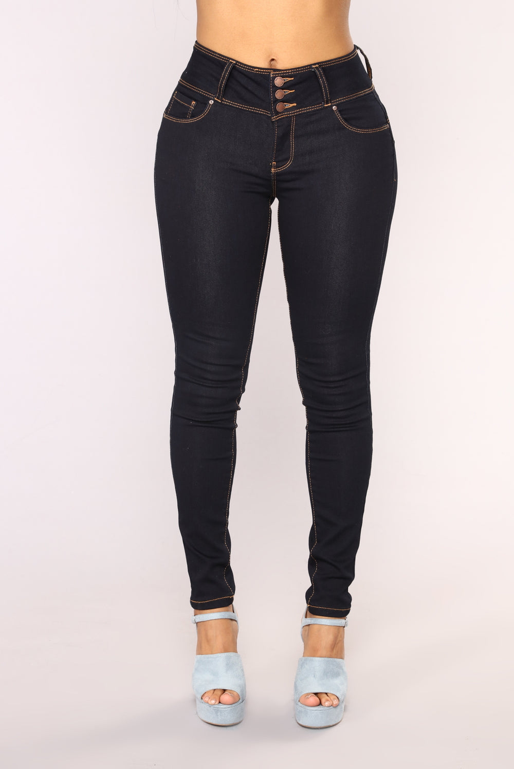 Round Of Applause Booty Shaped Jeans - Dark Denim