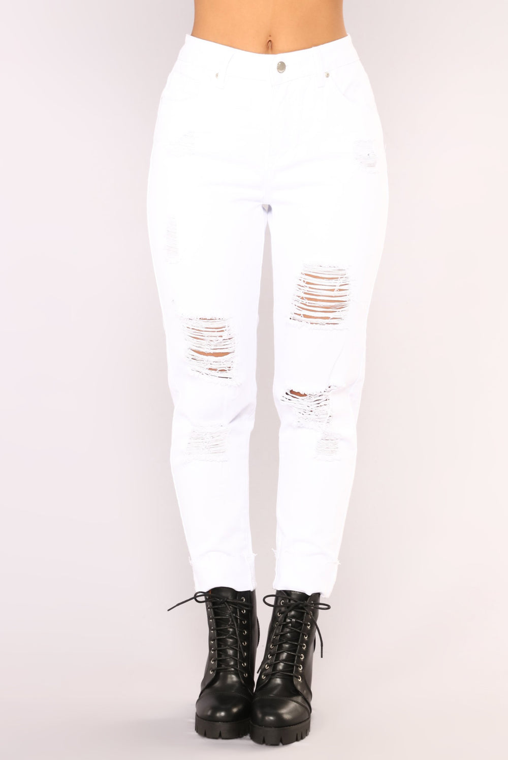 Love Your Boyfriend Jeans - White