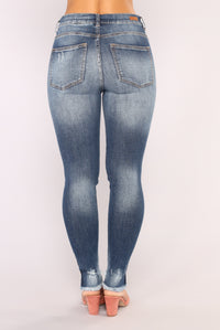 In The Shadows Ankle Jeans - Medium Blue Wash