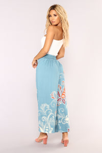 Wendy Tie Front Pants - Blue