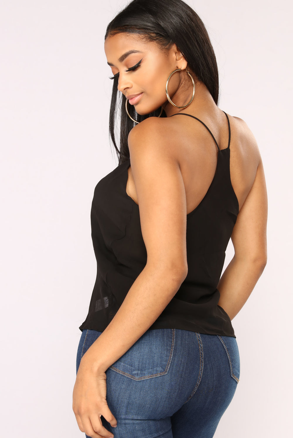 Simple As Can Be Cami - Black