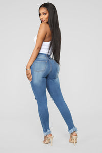Back To It Ankle Jeans - Medium Blue Wash Angle 5