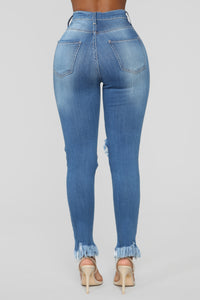 Back To It Ankle Jeans - Medium Blue Wash Angle 6