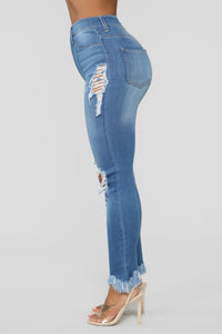Back To It Ankle Jeans - Medium Blue Wash Angle 4