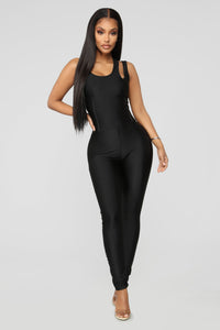 It's In My Nature Lounge Jumpsuit - Black Angle 1