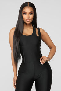It's In My Nature Lounge Jumpsuit - Black Angle 2