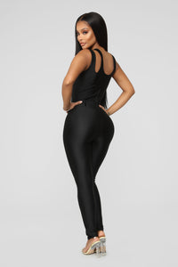 It's In My Nature Lounge Jumpsuit - Black Angle 4