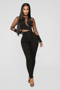 Time Of Your Life Bodysuit - Black