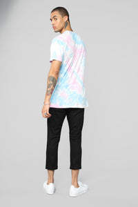 Cotton Candy Short Sleeve Tee - Pink/combo