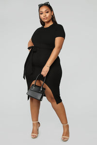 Prideful Midi Dress - Black