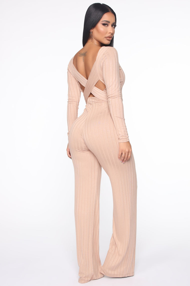 Stayed Friends Jumpsuit - Tan