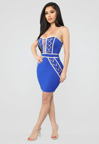 Better Than Your X Mini Dress - Royal/Taupe