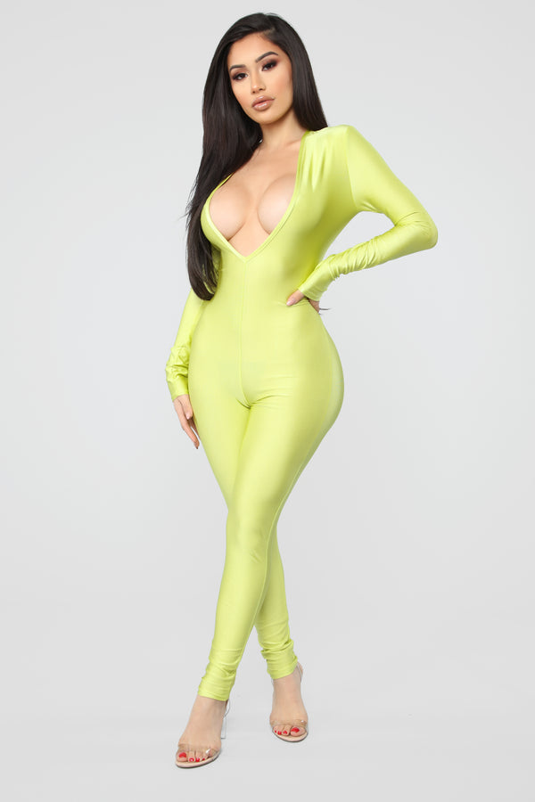 76c56ce4fa59 Jumpin  Into It Jumpsuit - Lime