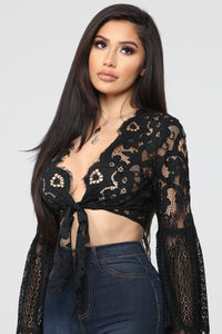 What's Not To Love Crochet Top - Black