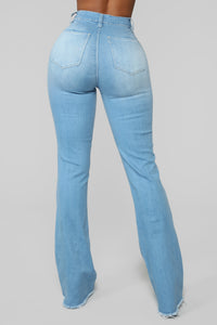 Valentina High Rise Flare Jeans - Light Blue Wash Angle 8