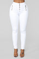 All Buttoned Up Jeans - White