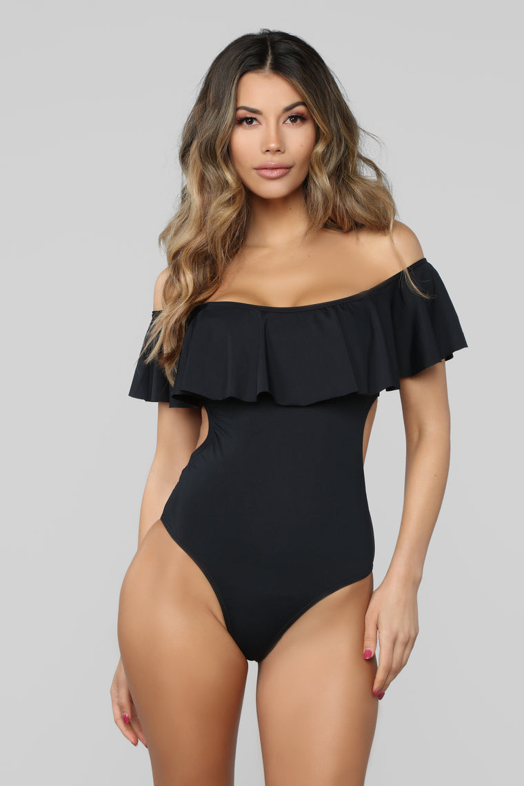 On A Beautiful Day Swimsuit - Black
