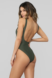 Kailuha Cut Out Swimsuit - Olive