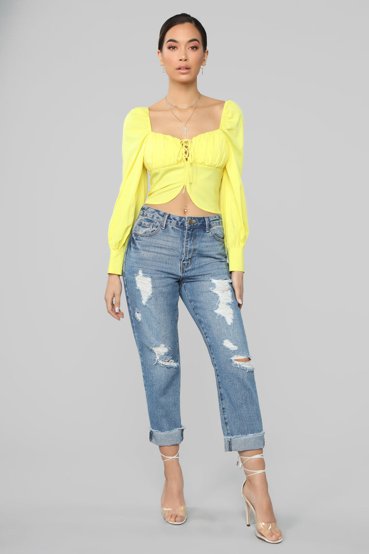 Another Round Of Mimosas Top - Yellow