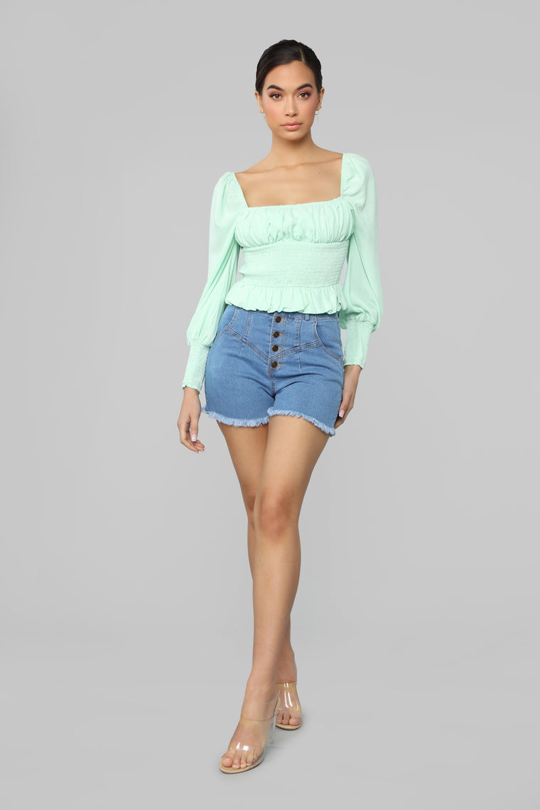That Kind Of Girl Top - Mint