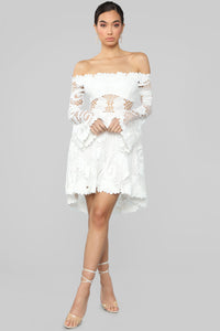 Festival Queen Crochet Dress - White Angle 1