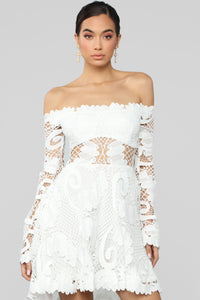 Festival Queen Crochet Dress - White Angle 2
